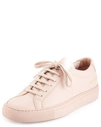 rosa Leder niedrige Sneakers