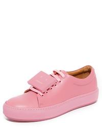 rosa Leder niedrige Sneakers von Acne Studios