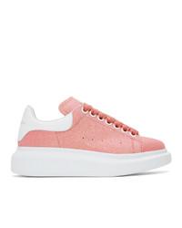 rosa Leder niedrige Sneakers von Alexander McQueen