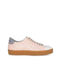 rosa Leder niedrige Sneakers von Burberry
