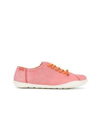 rosa Leder niedrige Sneakers von Camper