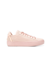 rosa Leder niedrige Sneakers von Fabi