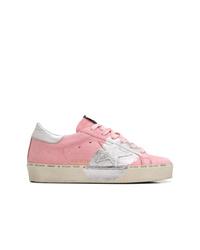 rosa Leder niedrige Sneakers von Golden Goose Deluxe Brand