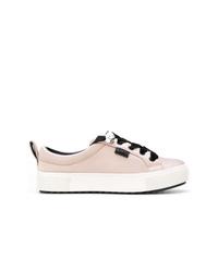 rosa Leder niedrige Sneakers von Karl Lagerfeld