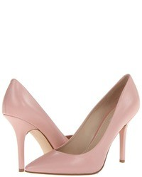 rosa Leder Pumps