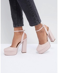 rosa Leder Pumps von ASOS DESIGN