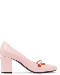 rosa Leder Pumps von Fendi