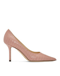 rosa Leder Pumps von Jimmy Choo