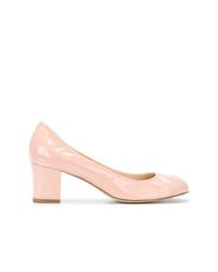 rosa Leder Pumps von Lanvin
