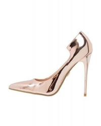 rosa Leder Pumps von LOST INK
