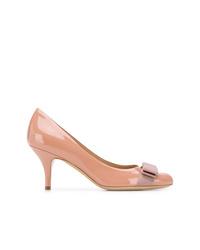 rosa Leder Pumps von Salvatore Ferragamo