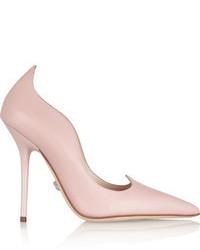 rosa Leder Pumps von Versace