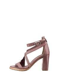 rosa Leder Sandaletten von A.S.98