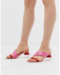 rosa Leder Sandaletten von Jeffrey Campbell