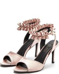 rosa Leder Sandaletten von Lascana