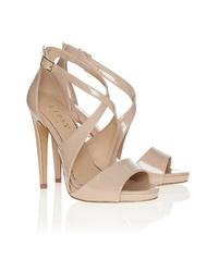 rosa Leder Sandaletten von Lipsy