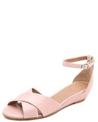rosa Leder Sandaletten von Marc by Marc Jacobs