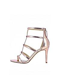 rosa Leder Sandaletten von Nine West