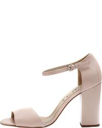 rosa Leder Sandaletten von PoiLei