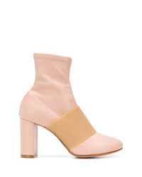 rosa Leder Stiefeletten von MM6 MAISON MARGIELA
