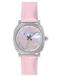 rosa Leder Uhr