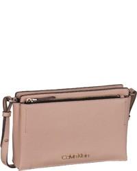 rosa Leder Umhängetasche von Calvin Klein