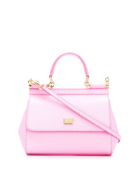 rosa Leder Umhängetasche von Dolce & Gabbana