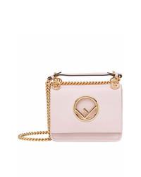 rosa Leder Umhängetasche von Fendi