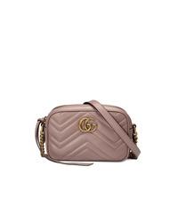 rosa Leder Umhängetasche von Gucci