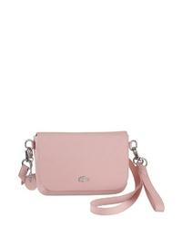 rosa Leder Umhängetasche von Lacoste