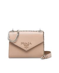 rosa Leder Umhängetasche von Prada