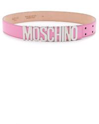 rosa Ledergürtel von Moschino