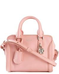 rosa Lederhandtasche von Alexander McQueen