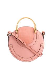 rosa Lederhandtasche von Chloé