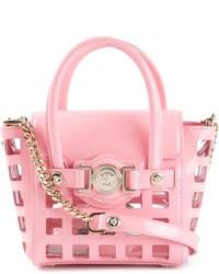 rosa Lederhandtasche von Versace
