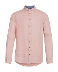 rosa Leinen Langarmhemd von BLEND