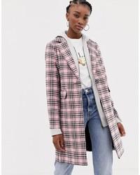 rosa Mantel mit Schottenmuster