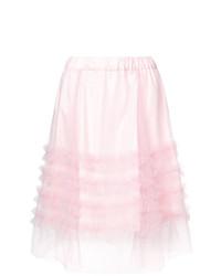 rosa Minirock mit Rüschen von P.A.R.O.S.H.