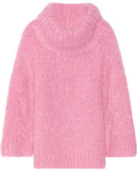 rosa Mohair Oversize Pullover von Michael Kors