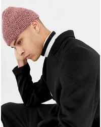 rosa Mütze von ASOS DESIGN
