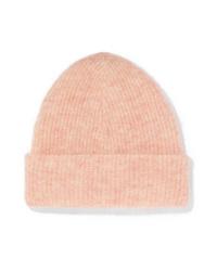 rosa Mütze von Ganni