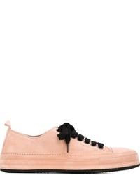 rosa niedrige Sneakers von Ann Demeulemeester