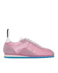 rosa niedrige Sneakers von MM6 MAISON MARGIELA