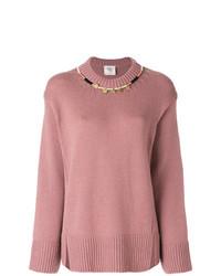 rosa Oversize Pullover von Forte Forte