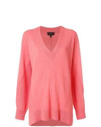 rosa Oversize Pullover von Rag & Bone