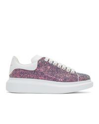 rosa Pailletten niedrige Sneakers von Alexander McQueen