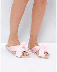 rosa Pantoletten von Asos