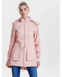rosa Parka mit einem Schwalbenschwanz von Only