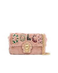 rosa Pelz Umhängetasche von Dolce & Gabbana