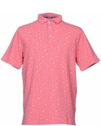 rosa Polohemd mit Blumenmuster